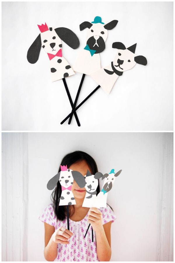 MAKE ADORABLE DIY PAPER DOG PUPPETS | Diy paper, Puppet and Free ...