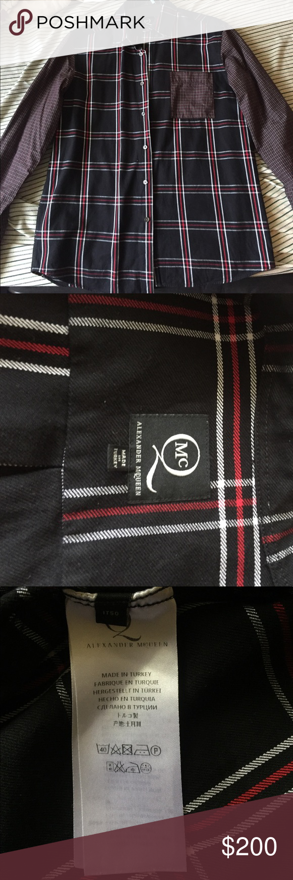Flannel jacket with fur inside  Alexander McQueen Flannel Shirt  Red flannel shirt Flannel shirts