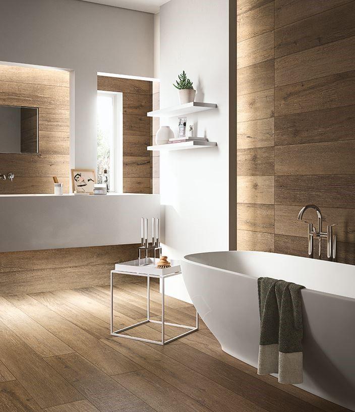 Carrelage style parquet grandes lames CADORE en 2020 | Salle de bains moderne, Idée salle de ...