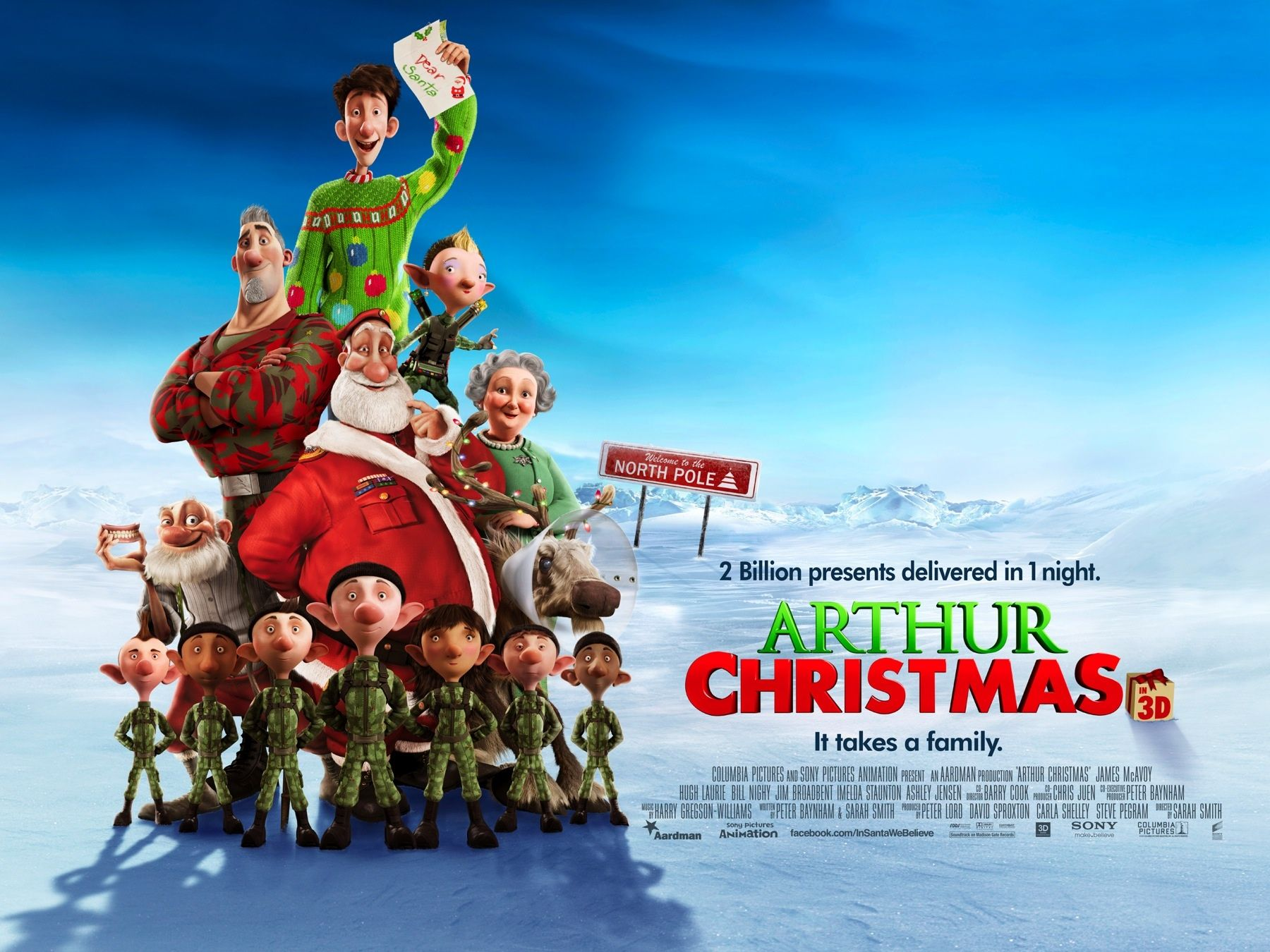 Arthurs Christmas Review - new Christmas classic, big thumbs up from www.theatrebooksandmovies.com