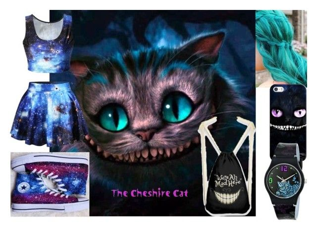 """""""Galaxy Cheshire Cat"""" by michael-cliffords-girl-0302 ❤ liked on Polyvore featuring Burton, Casetify, Disney and Vans"""