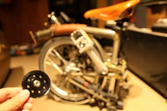 Brompton aluminum 6061 easy wheels L-version by charn49 on Etsy