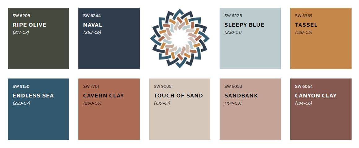 Canyon Clay Color Palette in 2020   Earth tones paint ...