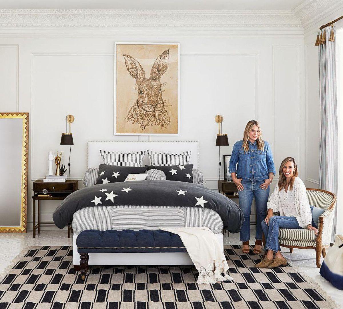 The Emily & Meritt Ticking Stripe Patchwork Quilt