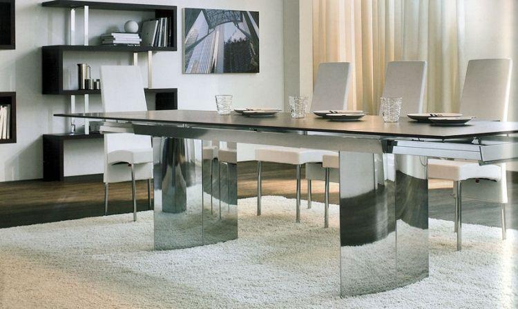 Moderner Esstisch aus Holz, Glas und Metall \u2013 15 exklusive Designs