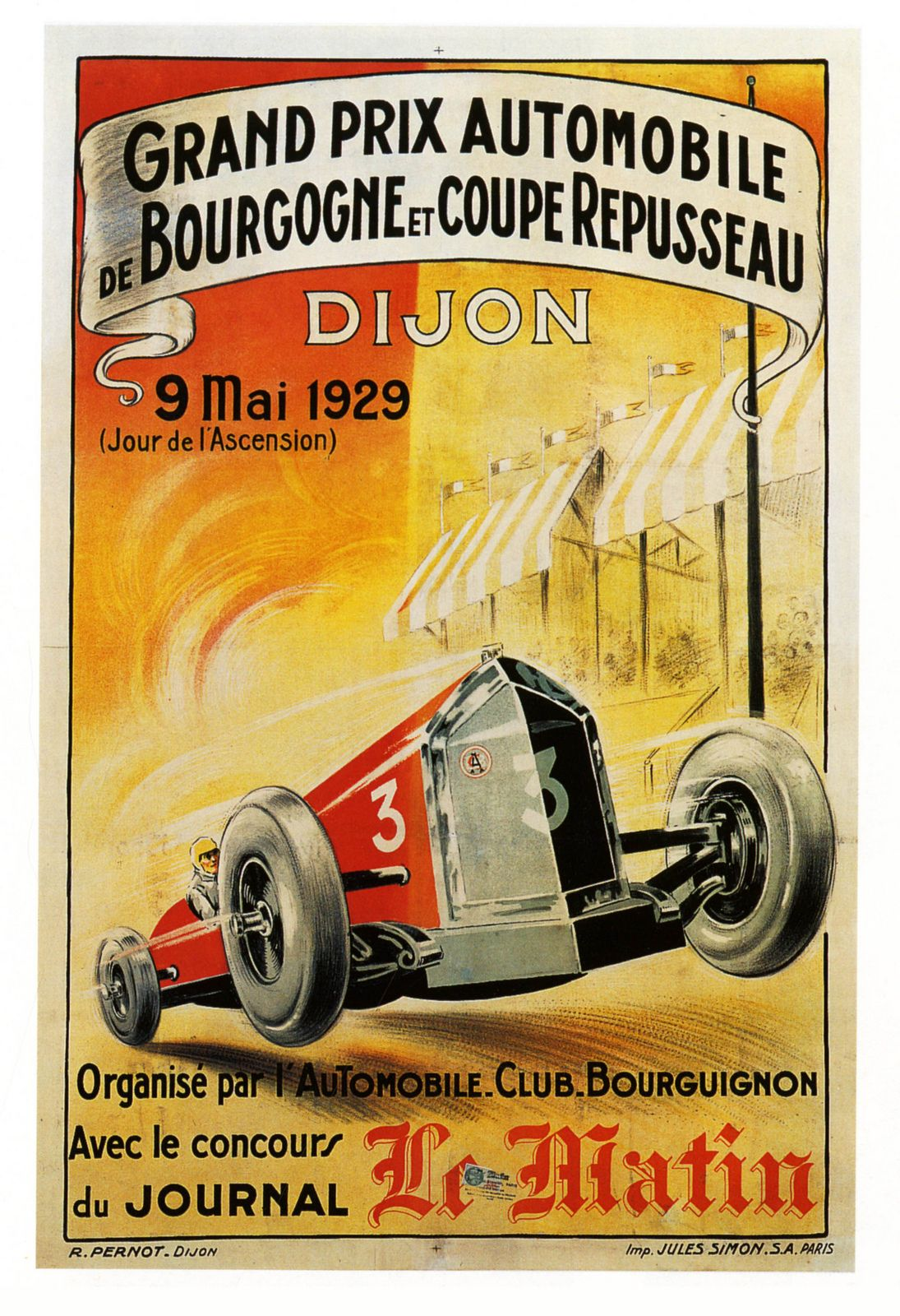 Piece Automobile Prix Grand Prix Auto Dijon 1929 Paul Malon Flickr France
