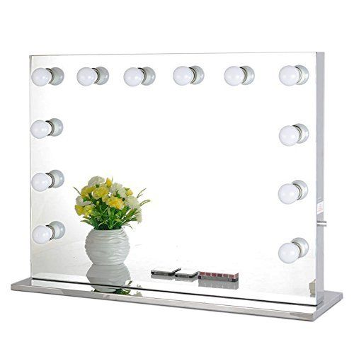 Tri Fold Vanity Mirror With Lights Led Lighted Makeup Mirror Magicfly 10X 3X 2X 1X Magnifying Mirror