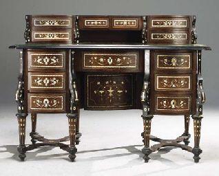 Bureau Mazarin de style Louis XIV Louis XIV style Baroque