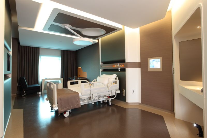 Patient Room Liv Hospital Istanbul Designed By Zoom Tpu Healthcare Interior Design Hospital Interior Best Home Interior Design