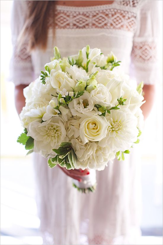Edith Elle Photography And Associates White Wedding Flowers