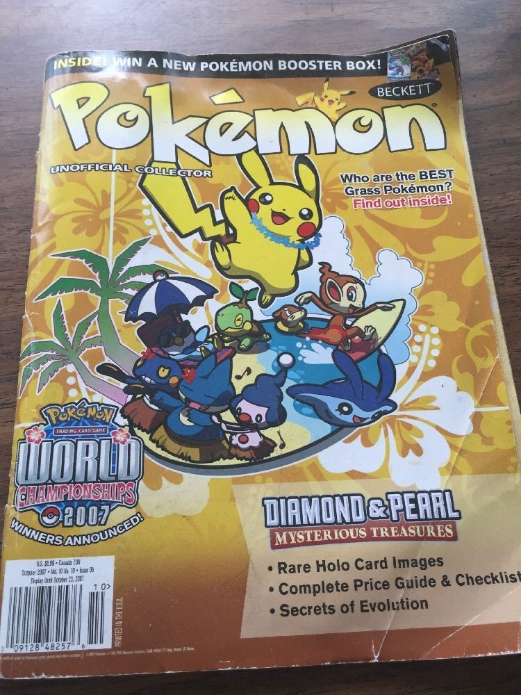 Beckett Pokemon Unofficial Collector Magazine Oct 07 Vol 10