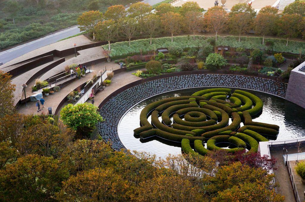 The Getty Center The Central Garden Los Angeles Ca Garden