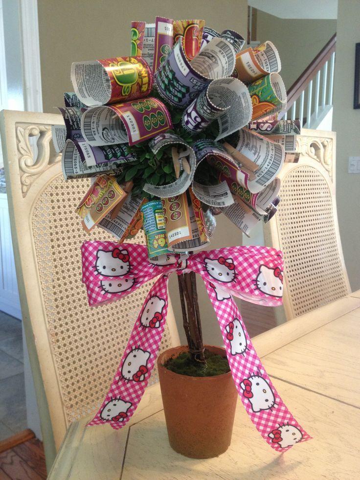 lottery tree ideas - minus the Hello Kitty ribbon