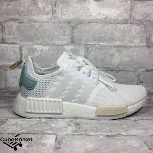 adidas nmd r1 bianco verde tattile by3033 donne 039 s 5 5 5 nuovi