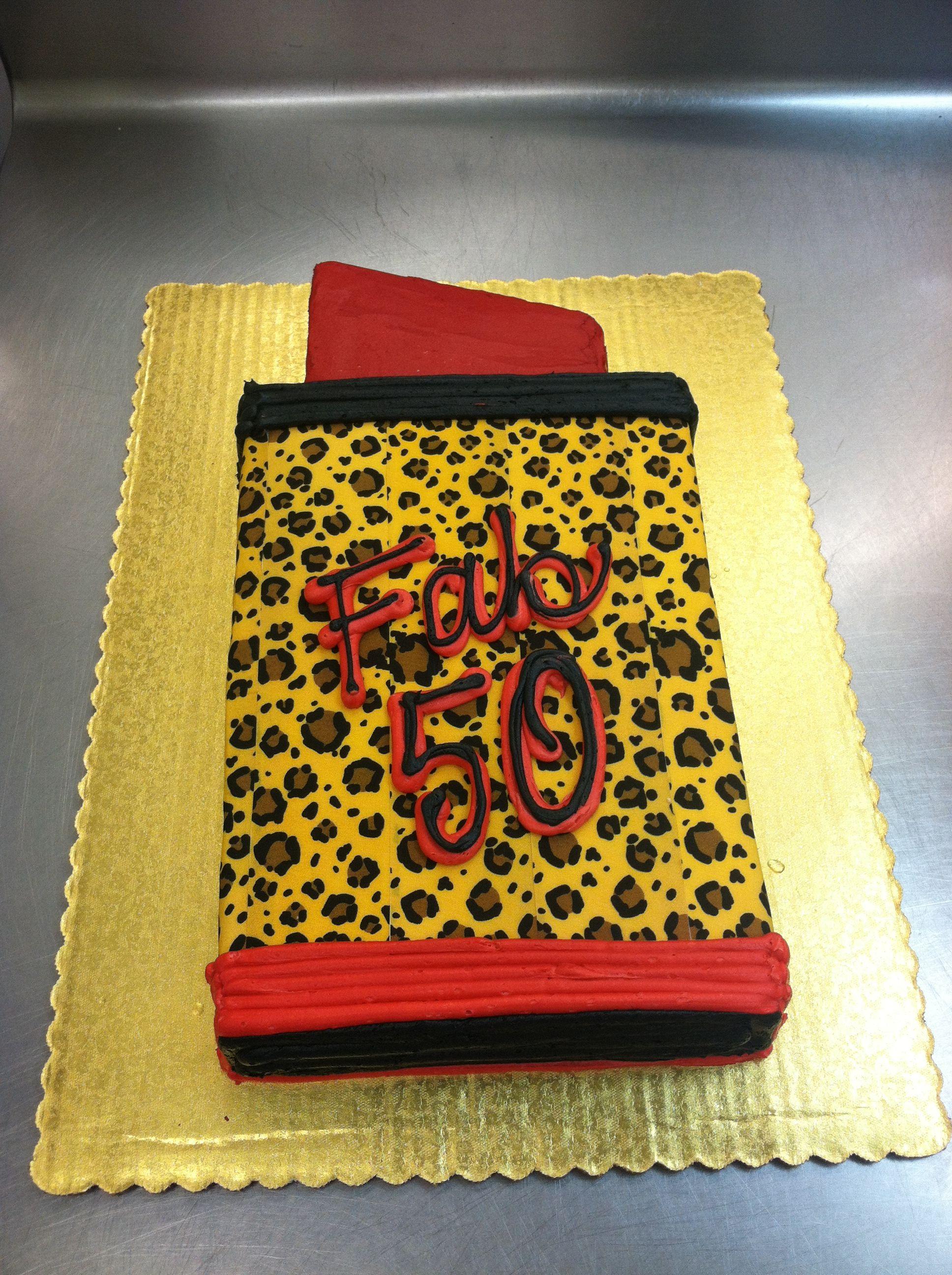 Leopard lipstick birthday cake by stephanie dillon ls1 hy