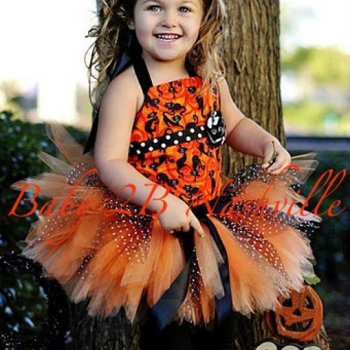 Halloween Pageant Tutu Costume Outfit Toddler to 4T Crafts  DIY - toddler girl halloween costume ideas