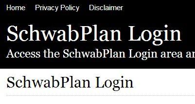 schwabplan com login