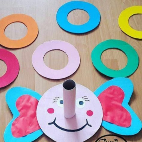 Funny Elephant Ring Toss Game Kids Crafts
