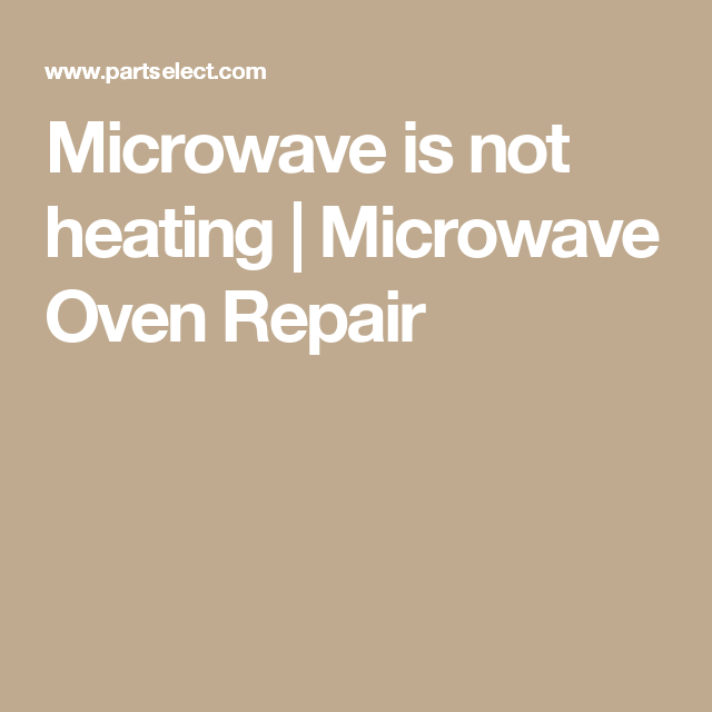 Microwave Oven Repair (With