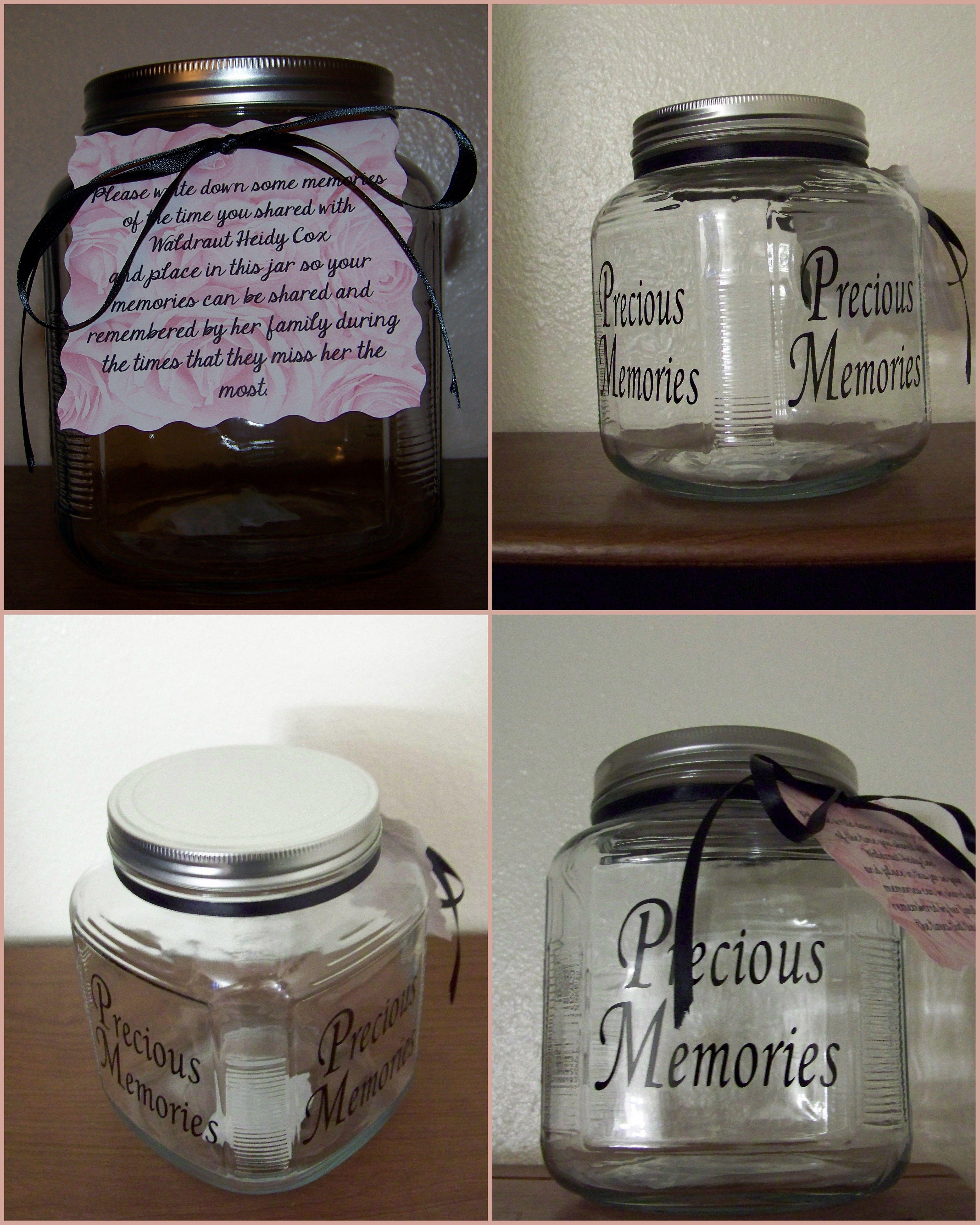 Pin By Gina Johnson On Memorial Ideas Memory Jar Memory Jars Jar