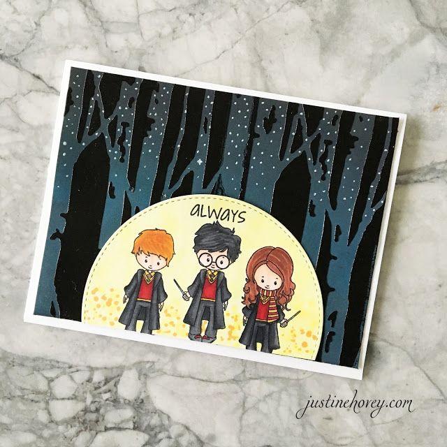 Justine S Cardmaking Harry Potter Card Blog Hop Harry Potter Cards Harry Potter Birthday Cards Birthday Cards
