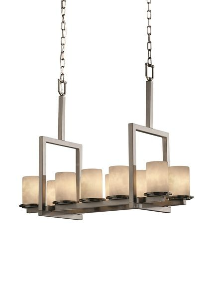 Justice Design Group Dakota 10-Light Bridge Chandelier, Brushed Nickel at MYHABIT