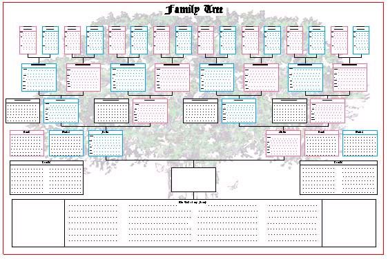 5 generation family tree template