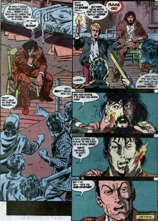 "subsilvernight "" Johnny Storm finding Namor in Fantastic"