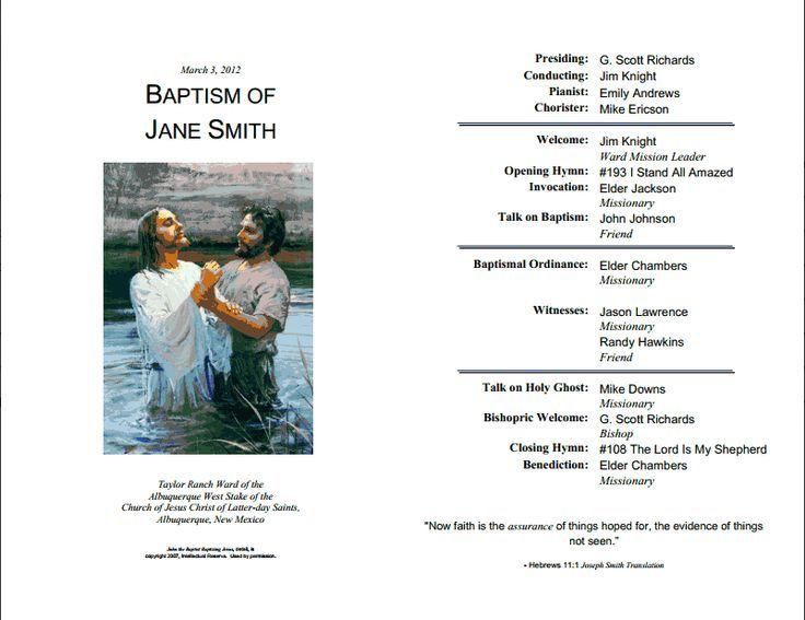 Lds baptism program template ideas de invitaciones pinterest lds baptism program template yadclub Images