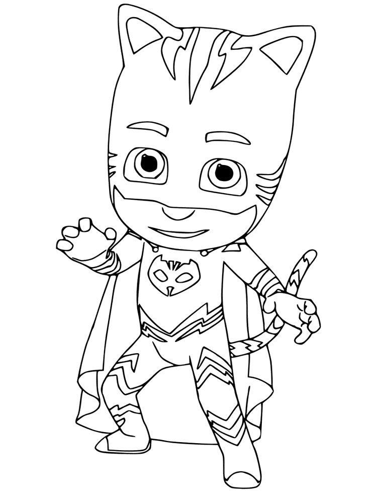 kleurplaat catboy pj masks coloring pages free 2019