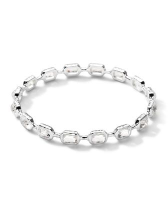 Sterling Silver Rock Candy Multi-Stone Bangle in Clear Quartz by Ippolita at Neiman Marcus.
