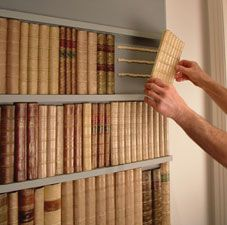 how to make a secret bookshelf door this could be adapted to make a rh pinterest com Red Book Faux Books for Bookshelves