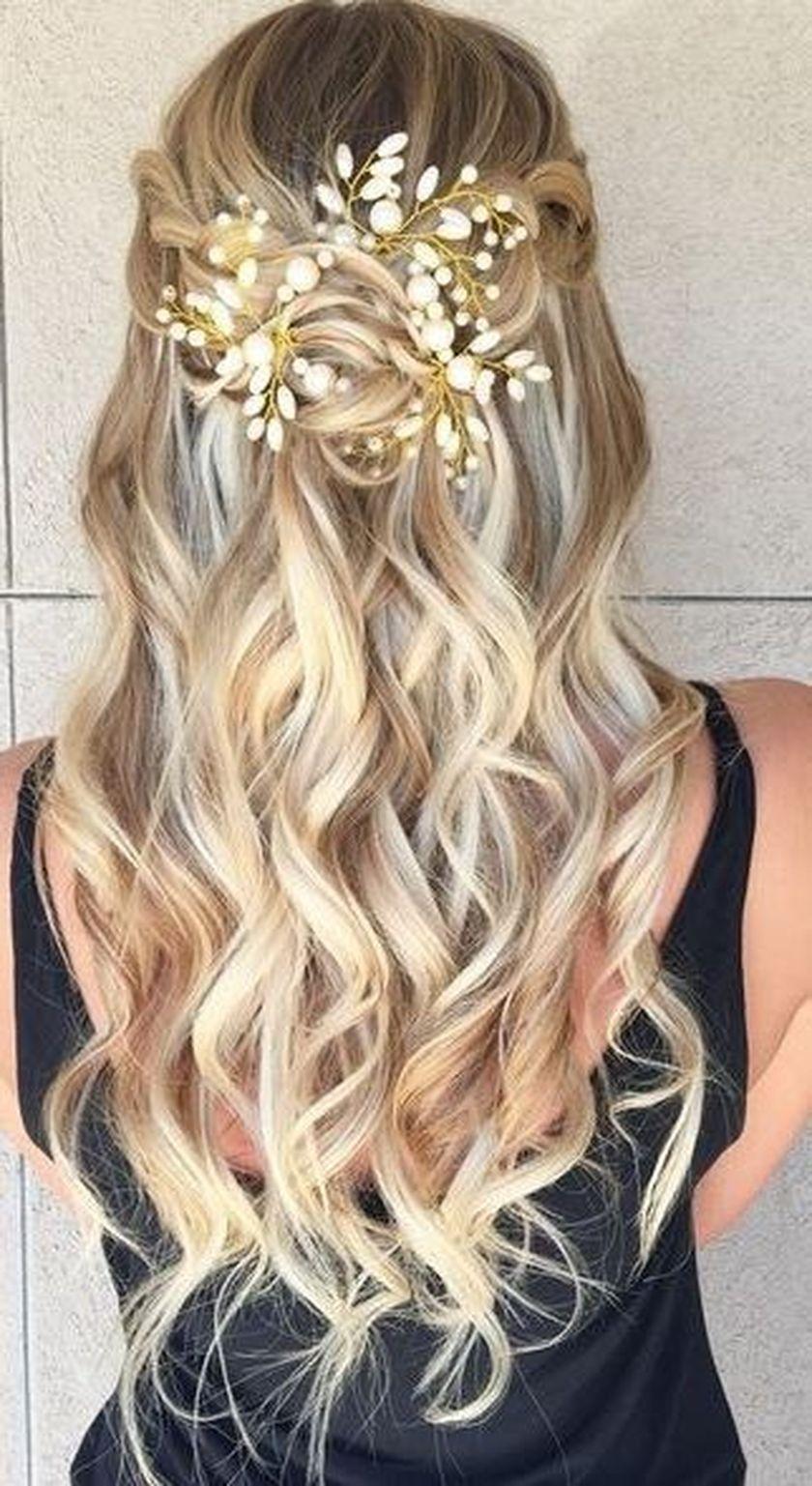 41 Pretty Hairstyle Ideas For Prom Night Ideas De Cabello Largo Peinados De Gala Inspiracion De Cabello