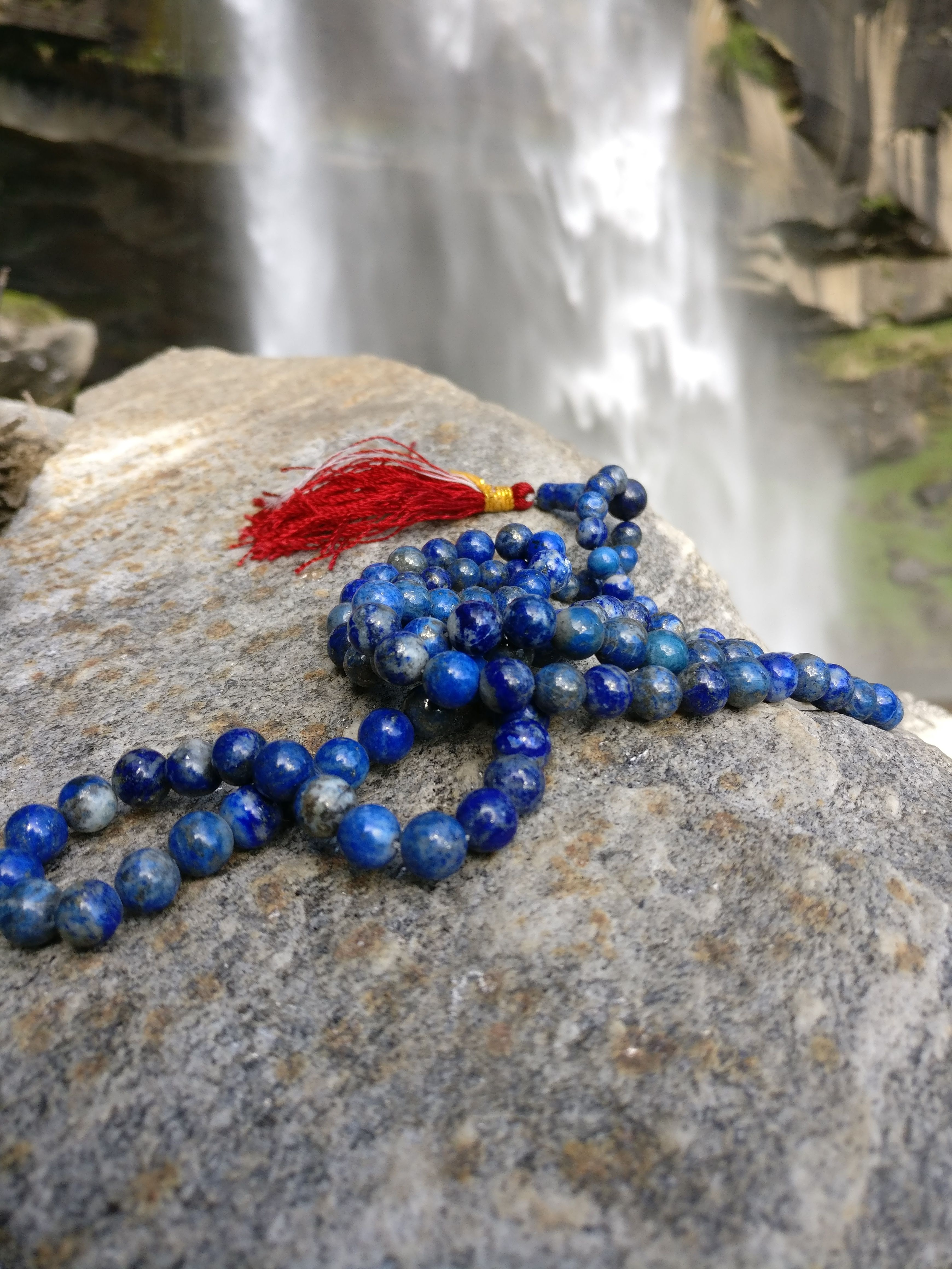 Lapis Gemstone 108 Prayer Beads Pinterest Prayer Beads Blue