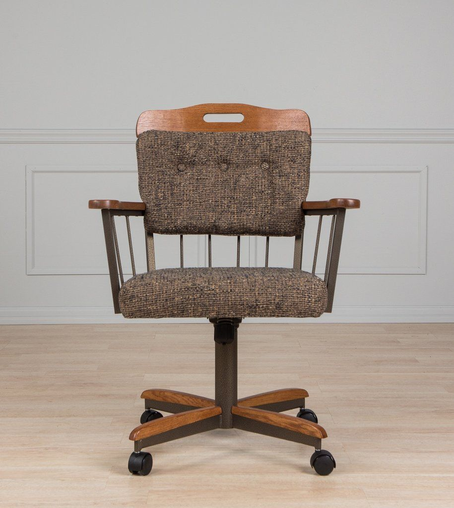 Dining room caster chair with arms farmhouse dining