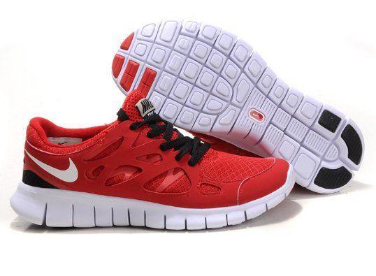 cheapshoeshub com Cheap Nike free run shoes outlet, discount nike free  shoes Nike Free Run+ 2 2012 Womens Running Shoes Red Black White