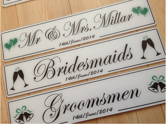 Just Married Black Wedding Number Plates Donegal Galway