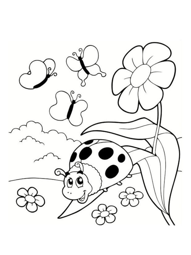 Coloriage Coccinelle Et Papillon.Coloriage Coccinelle 20 Modeles A Imprimer Coccinelles