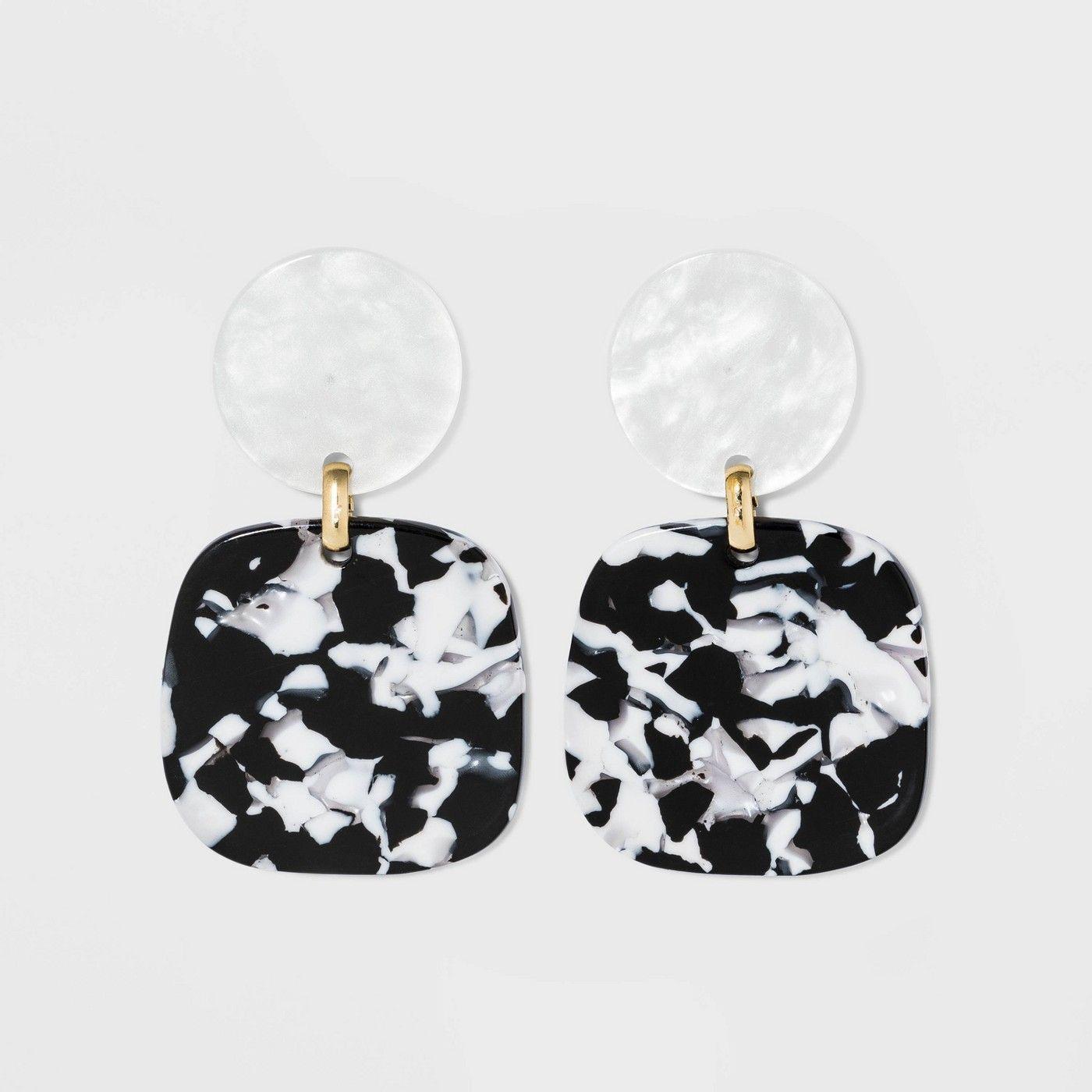 SUGARFIX by BaubleBar Marbled Drop Earrings – Blonde Tortoise