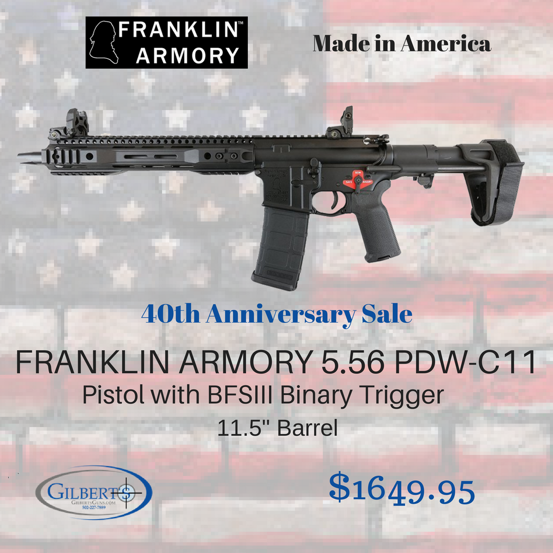 Free Shipping Franklin Armory Pdw C11 5 56 Pistol With Bfsiii Binary Trigger Sb Pdw Stabilizing Brace Machined Mlok R Pistol Armory Concealed Carry Handgun