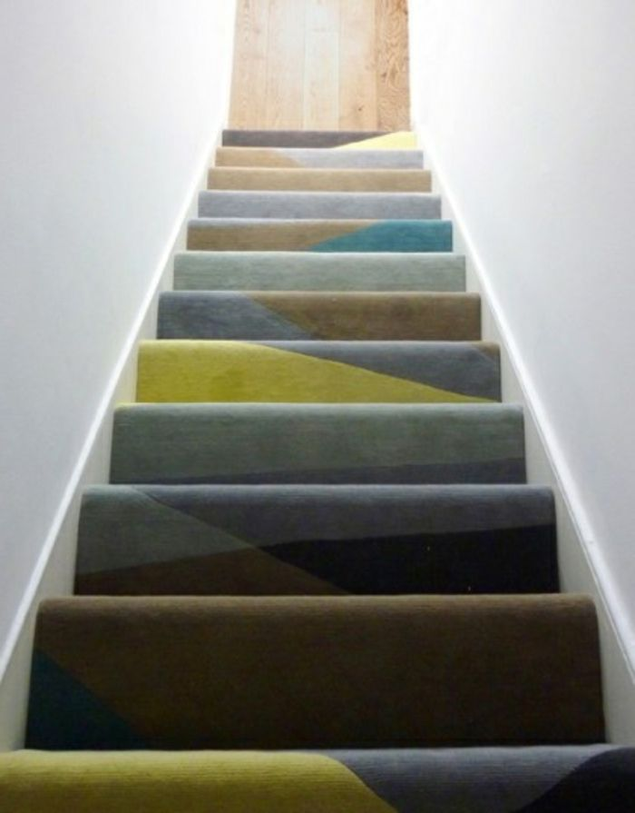 Le Tapis Pour Escalier En 52 Photos Inspirantes Moquette Escalier Tapis Escalier Escaliers Modernes