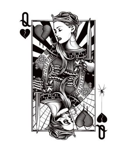 Queen Of Hearts Queen Of Hurts 357 Chicano Art Tattoos Queen