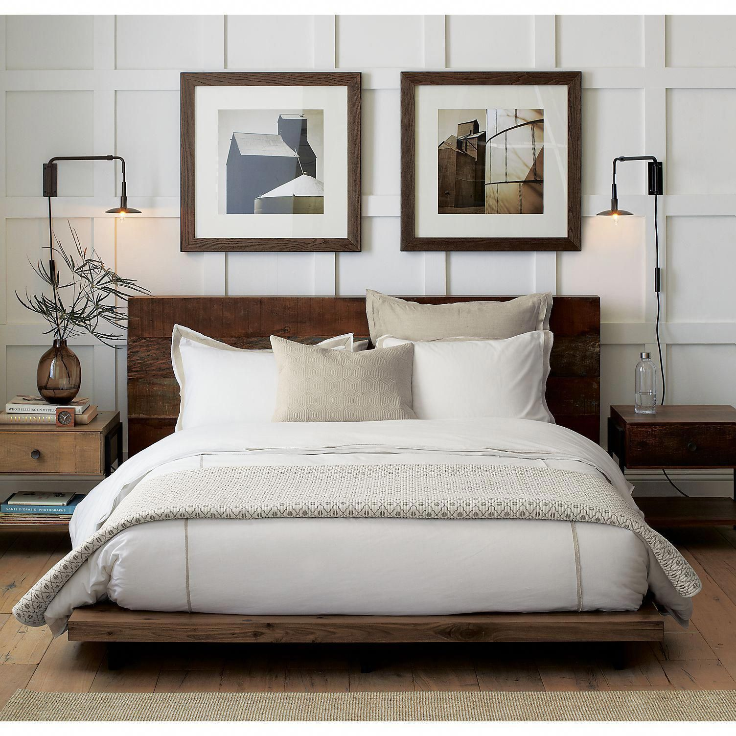 Atwood Rustic Platform Bed Crate and Barrel in 2020