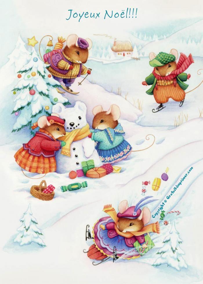 Souhaitez un joyeux noël avec des petites souris : ) CARTE JOYEUX