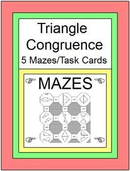 It's just a picture of Vibrant congruent triangles coloring activity
