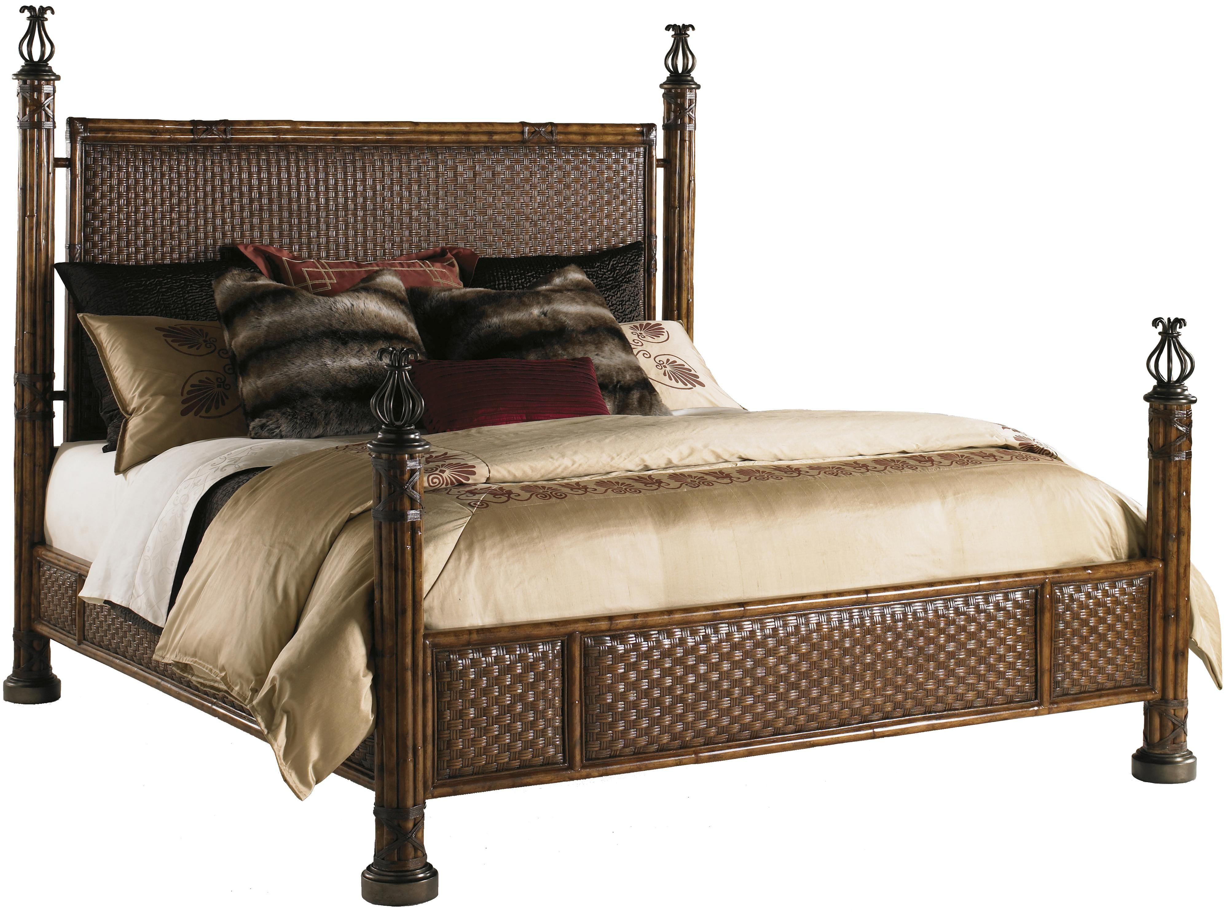 want to build a bed like this Wicker bedroom furniture