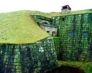 Ancient Fortress, Halland, Sweden  photo via minsk. You have to really look to know it was there