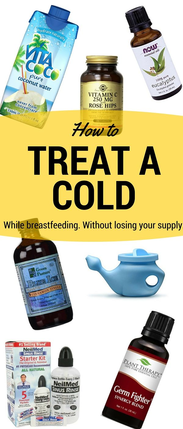 cold Breast feeding medicines and