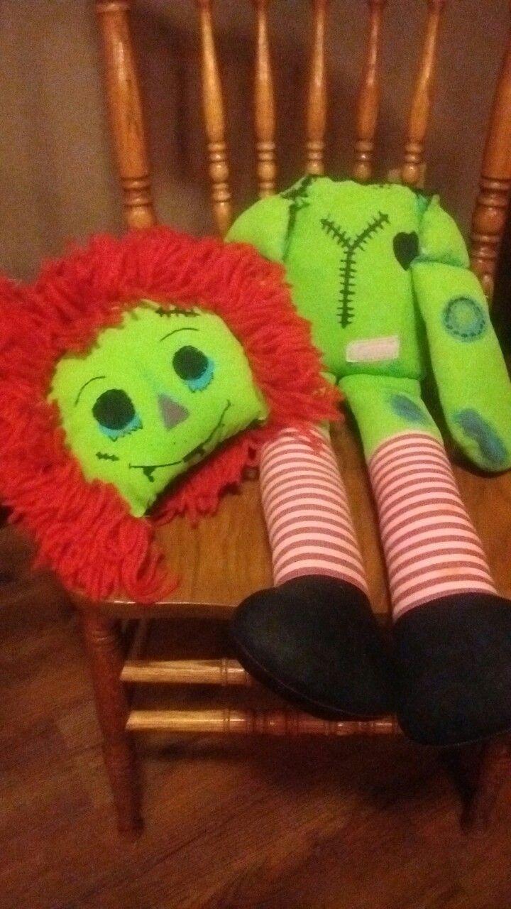 up cycled raggedy ann zombie this doll was found in the trash with