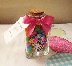 Hello kitty glass party favors by dulcedenance on Etsy, $1.98